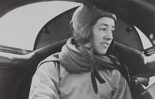 Anne Morrow Lindbergh in cockpit | by San Diego Air & Space Museum Archives