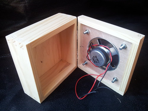 Inside view of speaker attached to box   by lilspikey