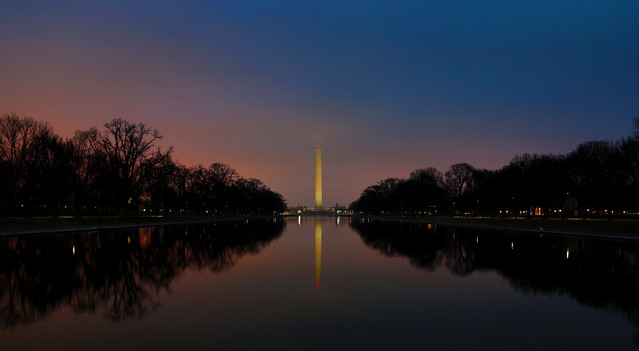Twilight At The Reflecting Pool