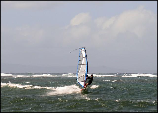 Windsuring off Shipwreck Beach, Lanai