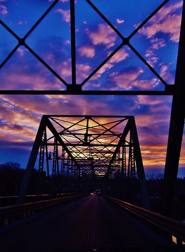 bridge sunset usa nj pa newhope lambertville
