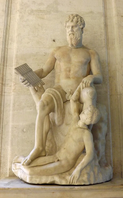 Statue of Polyphemus in the Capitoline Museum, July 2012