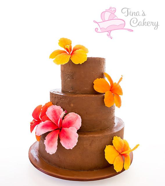 Ganache Hibiscus Cake