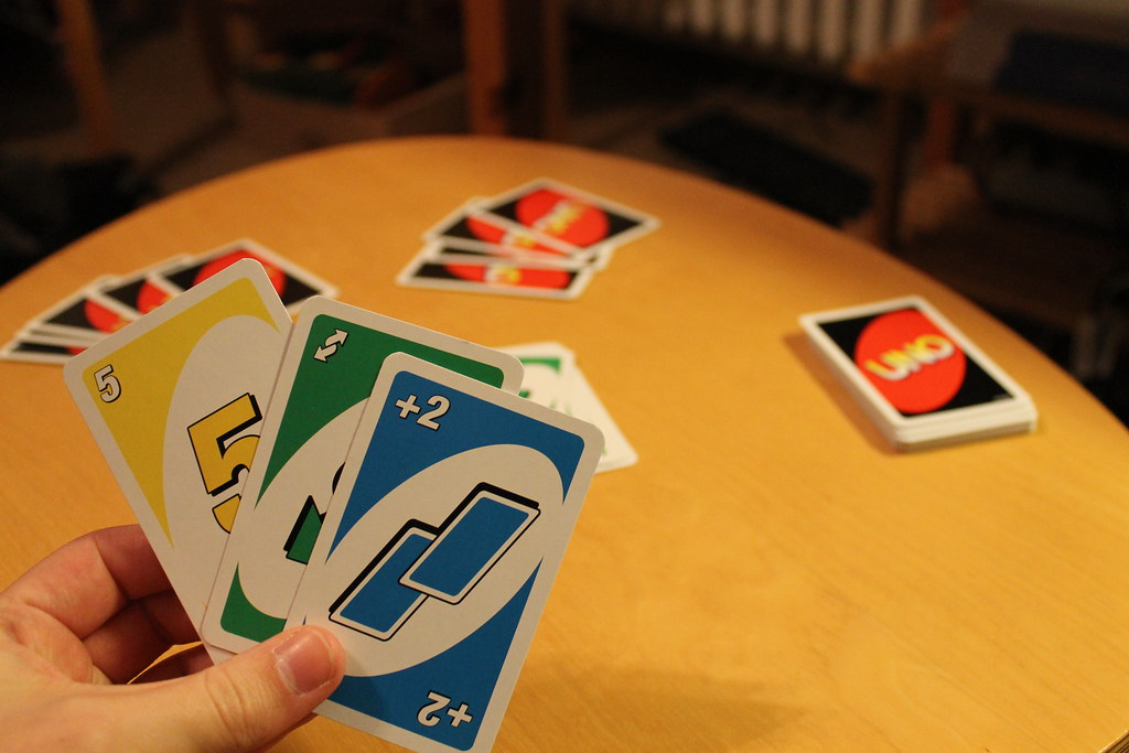 UNO Cards in hand