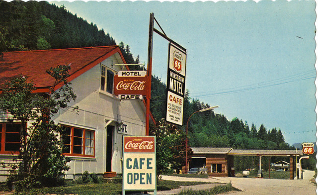 Pacific 66 station/Winstrom Motel, Hope, BC