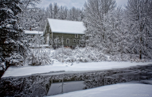 winter nature water landscape newengland newhampshire farms