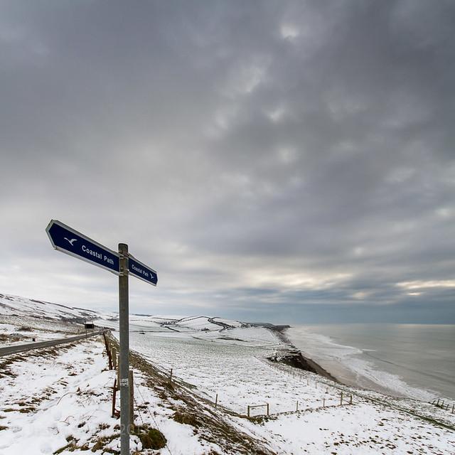 Coastal Path in the snow