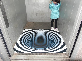 3D floor sticker - lift   by 3D floor sticker - YeJun
