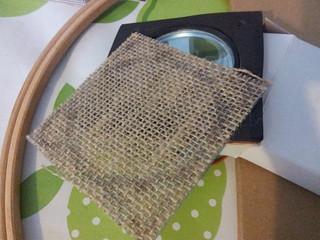 Hessian speaker grill cut out | by lilspikey