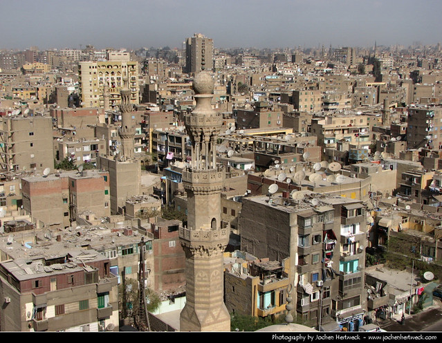 View across Cairo from the Mosque of Ibn Tulun, Egypt