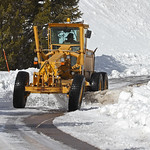 Grader Scraping Ice on Mammoth to Norris Road (image #8088)