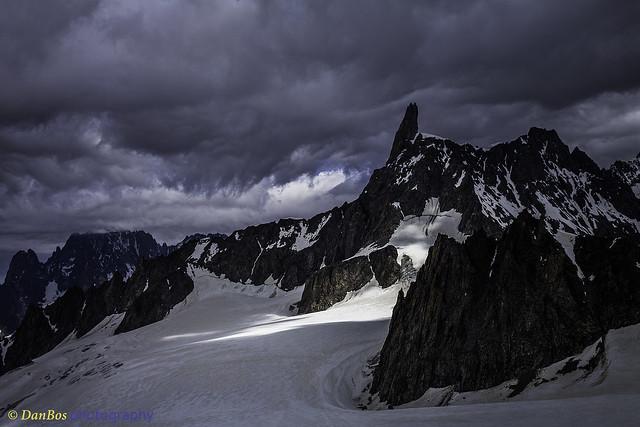 Dent of the Giant - Mont Blanc - under sunshine