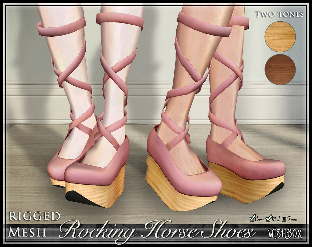 Rocking Horse Shoes (Pink)