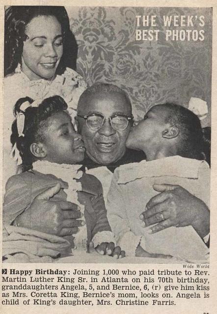 Celebrating Martin Luther King, Sr's 70th Birthday - Jet Magazine, January 8, 1970