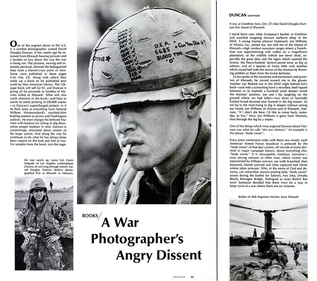 LIFE Magazine 5 April 1968 - A War Photographer's Angry Di