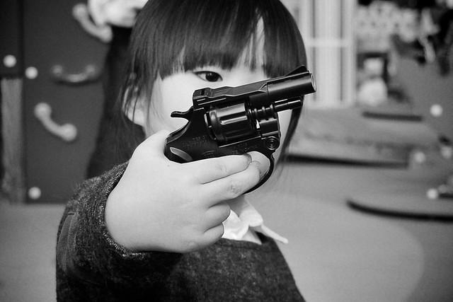 SAKURAKO pulls out a revolver!