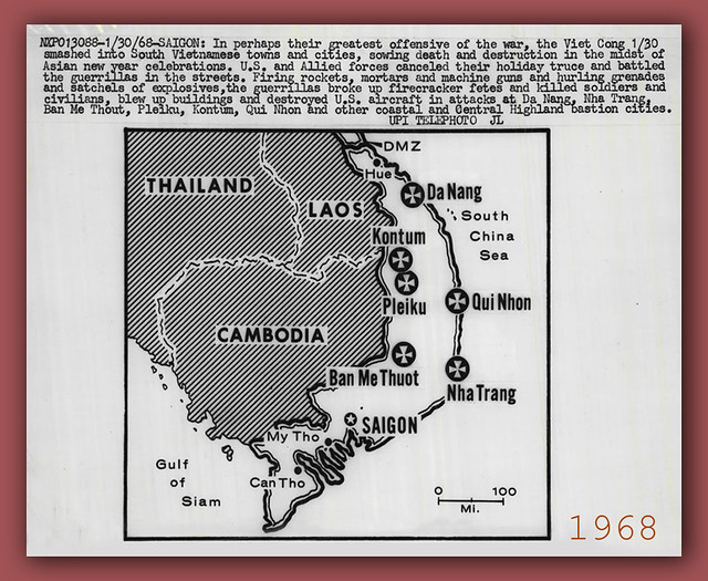 1968 Where Viet Cong Smashed Into South Vietnamese towns and cities - Press Photo
