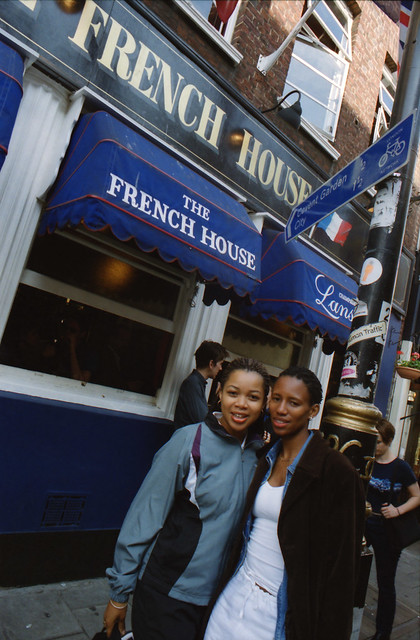Joyce Wilde and Siso South African Tourists The French House Pub Soho London May 2000 044 Soho The French House + Siso