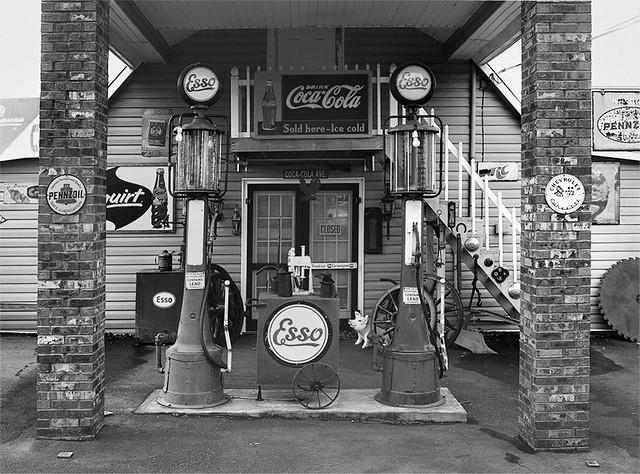 Antique Esso Station