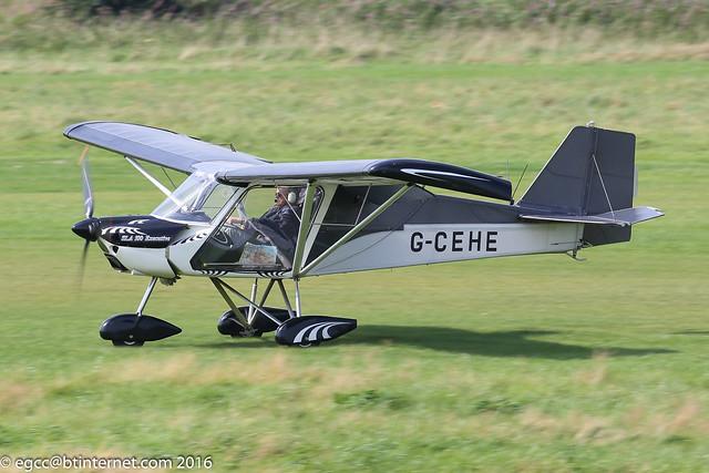 G-CEHE - 2006 build Medway Microlights SLA 100 Executive, arriving on Runway 26L at Barton
