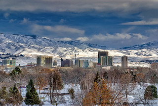 City of Boise Idaho Winter | by The Knowles Gallery