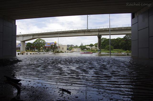 Under the bridge in Widdop Street, Clayfield