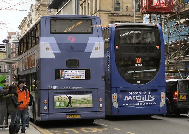 First Glasgow 33365 (LK53EYF), McGill's 8960