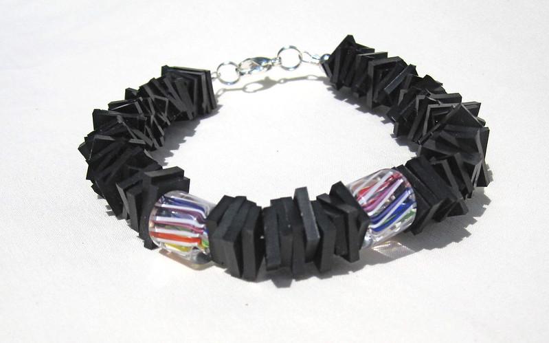 Groovy Garbage upcycled inner tube bracelet