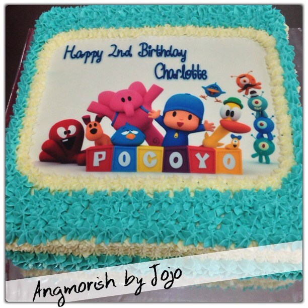 Phenomenal Pocoyo Birthday Cake For My Niece Chocolate Buttercre Flickr Funny Birthday Cards Online Elaedamsfinfo