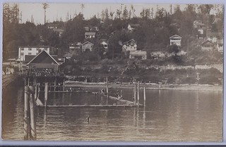 1930 - Real Photo Postcard - Swimming Gala at the Swimming Pool by the Pier at White Rock, B.C. | by Treasures from the Past
