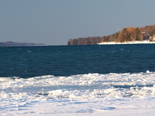 blue winter lake water mi forest skinny deep clear shore mirage torchlake february2013