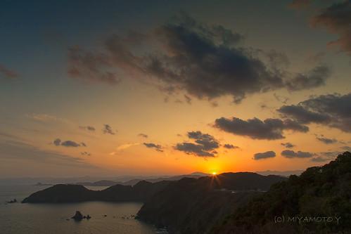 sunset sea sky cloud sun japan spring 2013 kochipref