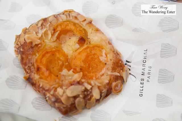 Apricot almond danish