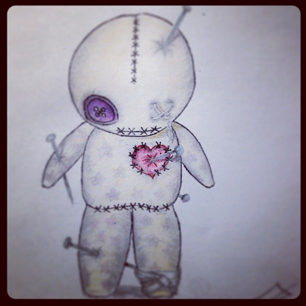 Finished #tattoo #design of a #voodoo #doll ...