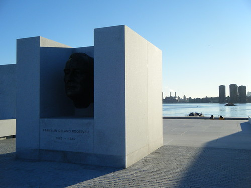 FDR's head in Four Freedoms Park | by Preetha & James