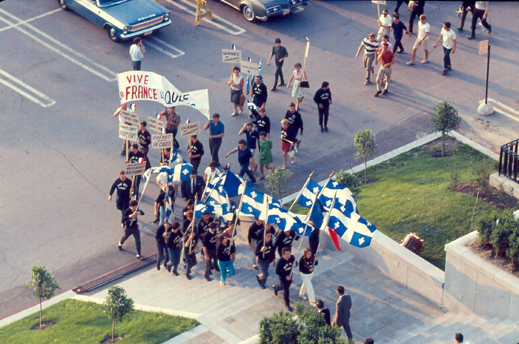 Manifestants sur le Champ-de-Mars, 24 juillet 1967