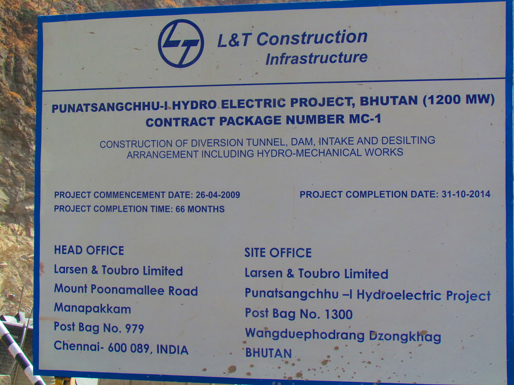 Punatsangchhu-I HEP | Sign with information regarding the Pu… | Flickr