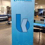 En stilren och enkel L-banner till Byggkonsult.