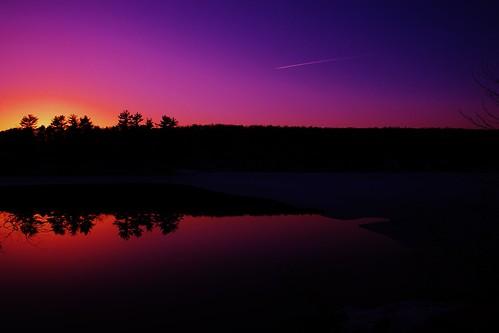 pink sunset spring trail