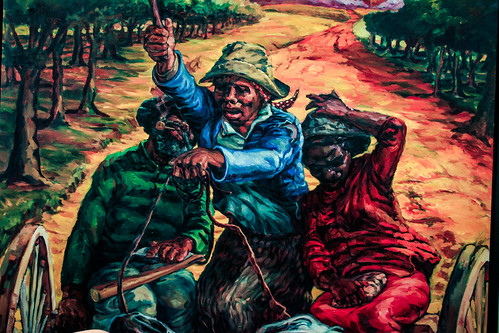 Painting of Harriet Tubman displayed at Harriet Tubman Underground Railroad State Park and Visitors Center