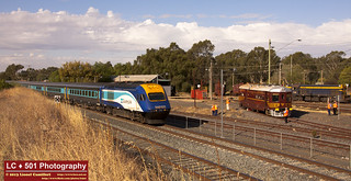 Two NSW trains and one from VIC, in Seymour! | by LC501