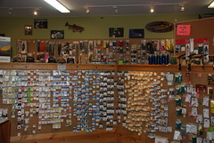 The Fly Tying Department at Davidson River Outfitters in Brevard, NC