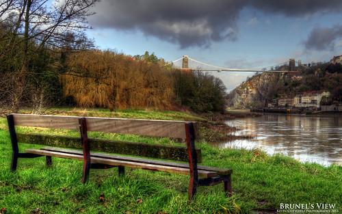 bench view cliftonsuspensionbridge clifton suspension bridge avongorge avon gorge hotwells isambardkingdombrunels leighwoods bristol england uk hdr photomatixpro sonydschx20v tonemapped