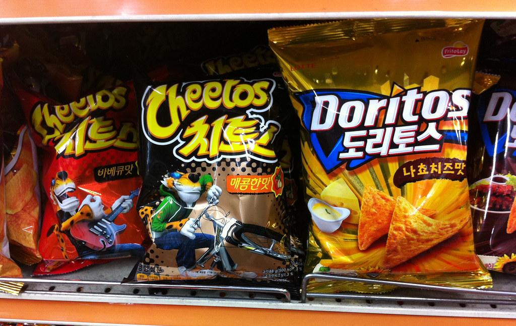 Cheetos and Doritos