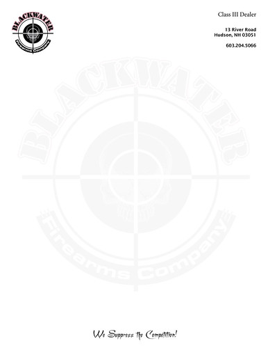 blackwater firearms letterhead | by bgardner51082