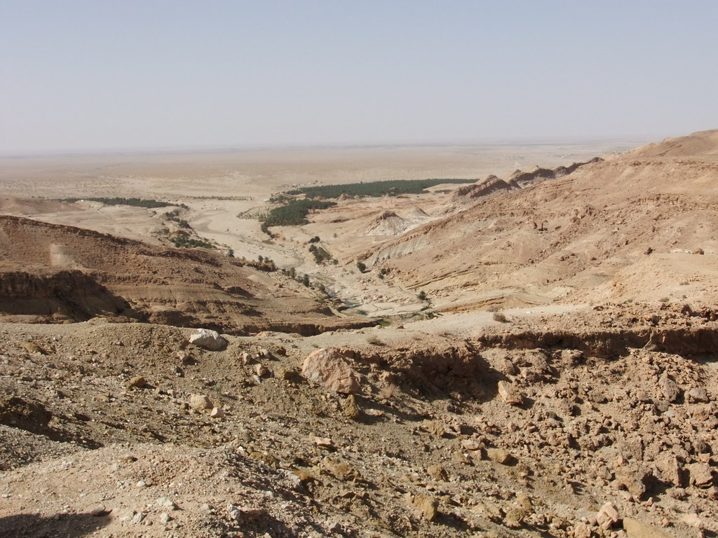 Picture of a rocky area of the Sahara in Algeria