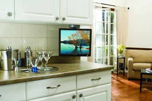Tv Sony Under White Kitchen Cabinet Danieleralte Flickr