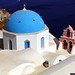 The iconic blue domed church in Oia