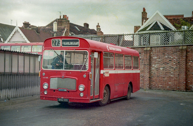 Eastern Counties LHS932 (WNG101H) Ipswich 1979_2