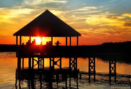 historiccorollapark sunset gazebo corollanorthcarolina outerbanks obx sanddunes northcarolina corollapark atlanticocean nc museum outerbanksnorthcarolina curritucksound currituckcounty